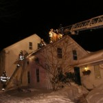 Hawleyville Firefighters use ground ladders