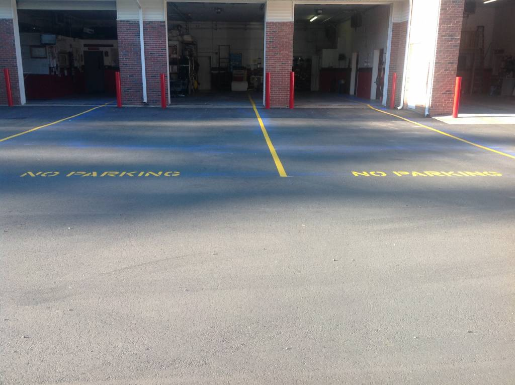 New Parking Lines at The Hawleyville Fire Station