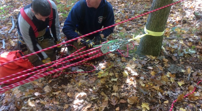 Hawleyville Fire Trains in Low Angle Rescue