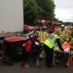 Early Morning MVA on Interstate 84