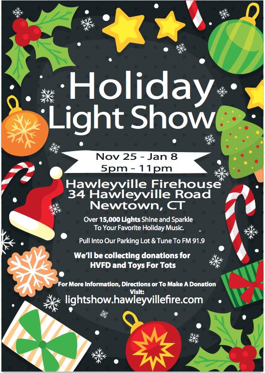 Hawleyville Fire Department Light Show