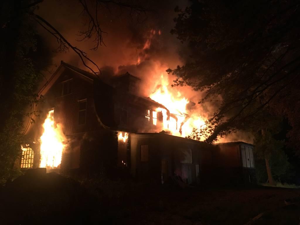 Hawleyville Fire on Scene Structure Fire