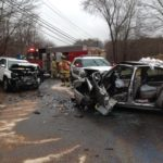 Two Car MVA on Mount Pleasant Road wit Extrication.