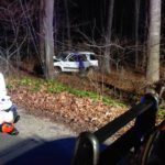 One Car MVA off the Roadway