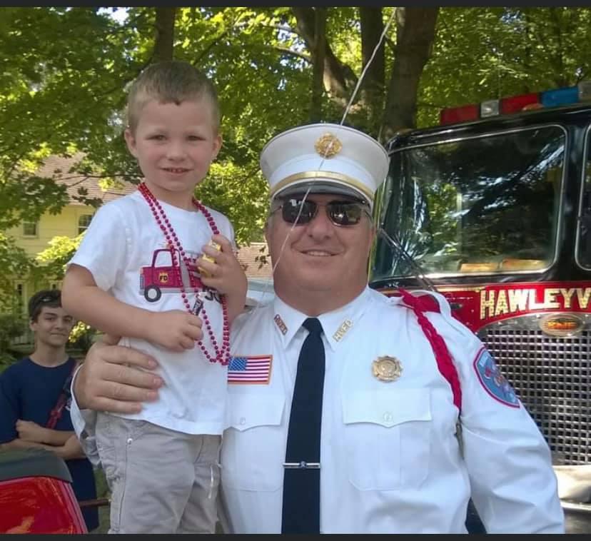Donald DiGioia, Hawleyville Fire Department's Fire Chief.